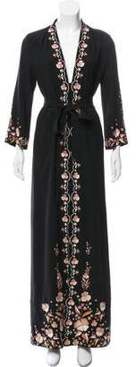 Vilshenko Embroidered Maxi Dress