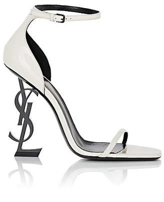 c8a121c840140 Saint Laurent Women s Opium Patent Leather Ankle-Strap Sandals - White