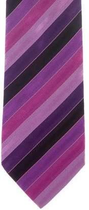 Etro Striped Jacquard Silk Tie