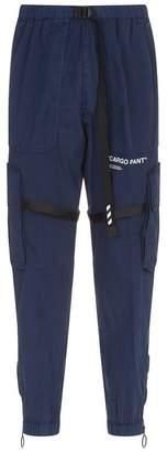 Off-White Slogan Cargo Trousers