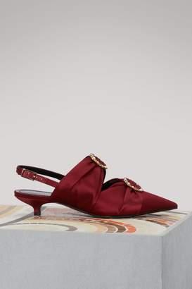 Erdem Chelsea satin sandals
