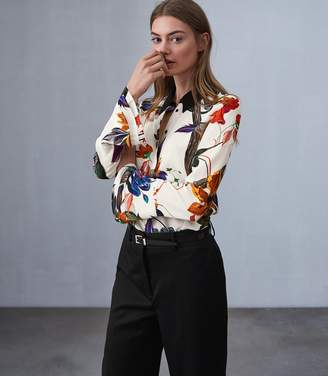Reiss Lupa Bold Floral Printed Blouse
