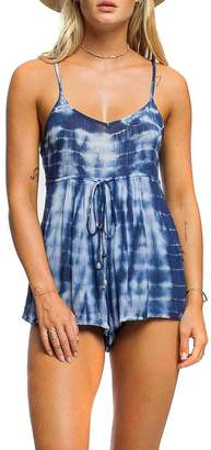 Anama Tie-Dye Cage-Back Romper