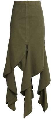 J.W.Anderson Draped Cotton-Canvas Maxi Skirt