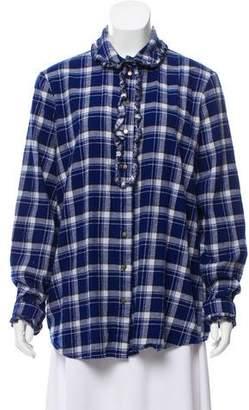 Roseanna Plaid Long Sleeve Top