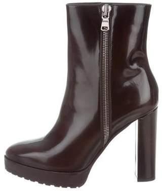 Brunello Cucinelli Zip Platform Ankle Boots w/ Tags