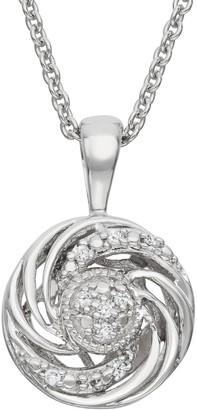 Vera Wang Simply Vera Diamond Accent Sterling Silver Swirl Pendant Necklace