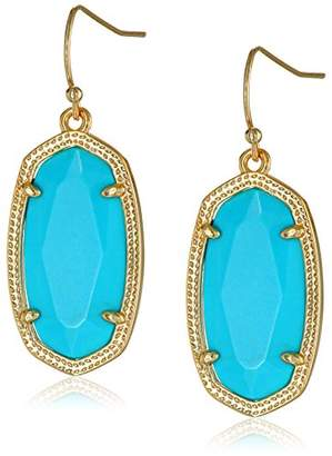 "Kendra Scott Signature"" Dani Gold plated Turquoise Magnesite Drop Earrings"