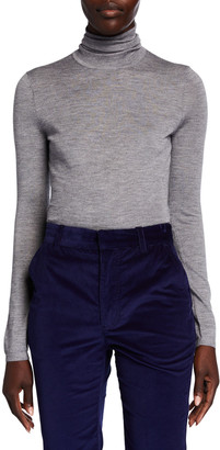 Gabriela Hearst Costa Cashmere-Silk Turtleneck Sweater
