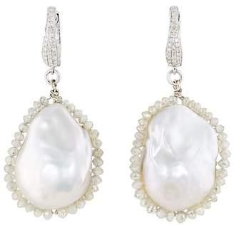Samira 13 Women's Baroque Pearl & Diamond Drop Earrings