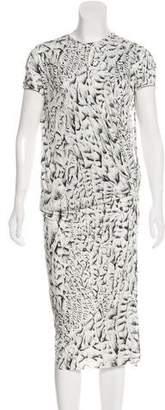 Helmut Lang Patterned Mini Dress
