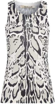 Roberto Cavalli Knitted Lynx Vest