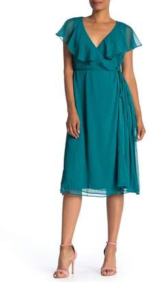 Line & Dot Evelyn Wrap Midi Dress