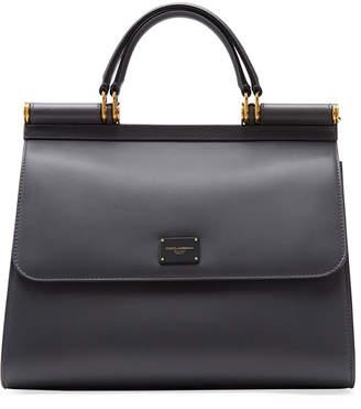 Dolce & Gabbana Sicily Large Leather Top Handle Bag