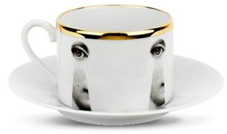 Fornasetti Theme and Variations tea cup and saucer set