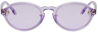 Versace Purple Oval Sunglasses