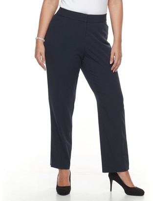 Croft & Barrow Plus Size Curvy Fit Straight-Leg Trousers