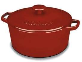 Chefs Classic Enameled Cast Iron 5 Quart Round Covered Casserole