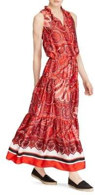 Lauren Ralph Lauren Petite Twill Paisley Maxi Dress