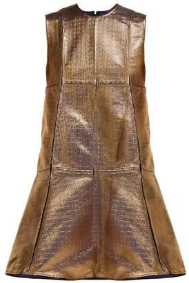 Maison Rabih Kayrouz A Line Panelled Jacquard Dress - Womens - Gold