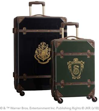 Pottery Barn Teen HARRY POTTER & Hard-Sided SLYTHERIN & Luggage Bundle, Set of 2, Green/Black