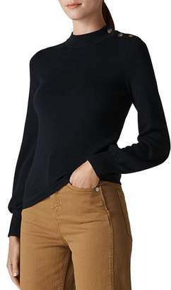 Whistles Bishop-Sleeve Merino-Wool Sweater