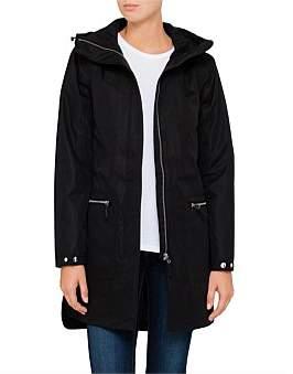 Huski Solan Long Lined Jacket With Dipped Hem