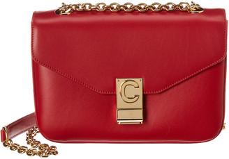 Celine Medium C Leather Shoulder Bag