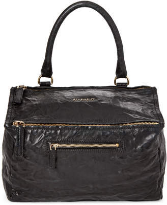 Givenchy Black Pepe Pandora Medium Leather Satchel