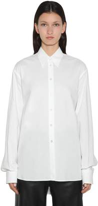 MM6 MAISON MARGIELA COTTON POPLIN MAXI SHIRT