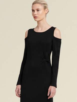 DKNY Long-Sleeve Cold-Shoulder Dress