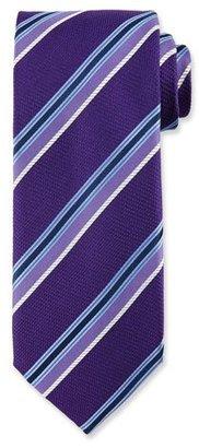 Canali Multi-Stripe Silk Tie, Purple $160 thestylecure.com