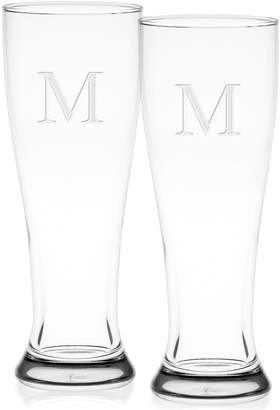 Culver Monogram Pilsner Glasses, Set of 2
