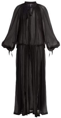 Ann Demeulemeester Cupid Sheer Silk Maxi Dress - Womens - Black