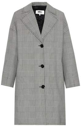 MM6 MAISON MARGIELA Houndstooth wool-blend coat
