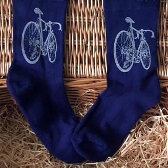Emma Nissim Bamboo Super Socks Hand Printed Bike