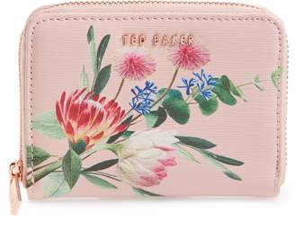 Ted Baker Mirriam Floral Print Mini Zip Purse
