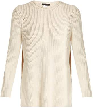 Selina ribbed-knit cotton-blend sweater