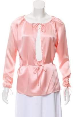 Juan Carlos Obando Silk Long Sleeve Top w/ Tags
