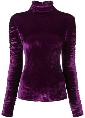 Josie Natori stretch velvet top