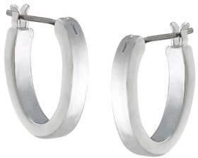 Lauren Ralph Lauren Silvertone Brass Hoop Earrings