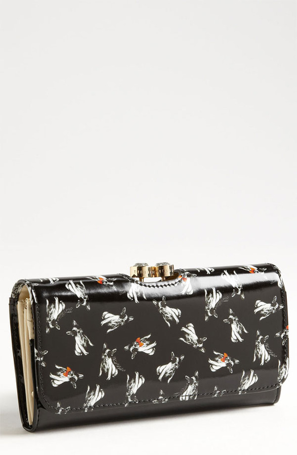 Ted Baker 'Cotton Dog Bobble' Matinee Wallet