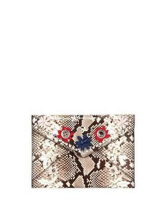 Rebecca Minkoff Leo Snake-Print Clutch Bag