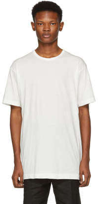 The Viridi-anne White Red Stitch T-Shirt