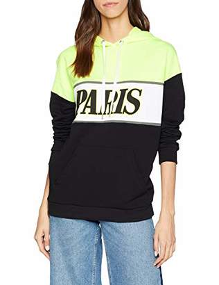New Look Women's Paris Neon Regular Fit Hoodie,(Manufacturer Size:)