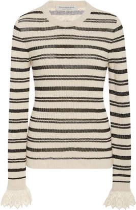Philosophy di Lorenzo Serafini Striped Cotton-Blend Sweater