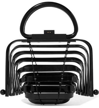 Cult Gaia Lilleth Mini Collapsible Acrylic Tote - Black