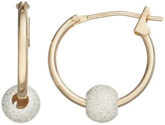 14k Gold Ball Hoop Earrings