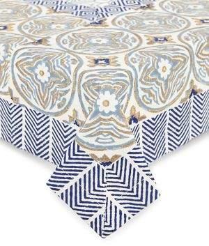 Tag Trade Indigo Block Tablecloth