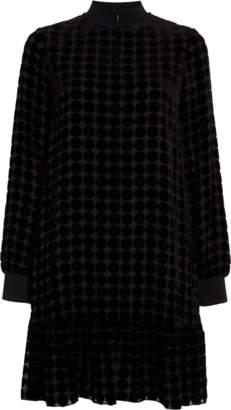 Emporio Armani Textured Trapeze Dress